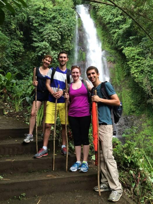 Family Bali Waterfall