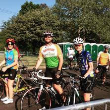 Ride day started with the 62-mile group